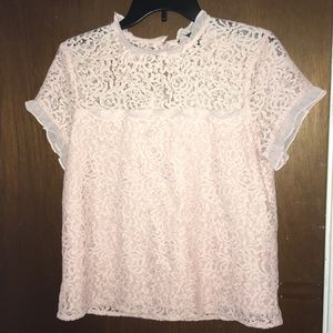Pink lace loli top
